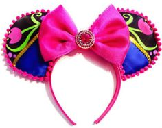 Character Inspired Mouse Ears and Hair Bows by ExtraMagicHours - Princess Anna shown here from Frozen