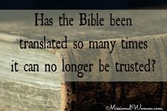 The #1 Lie about the Bible