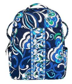 3d1bb58168a Vera Bradley Backpack in Mediterranean Blue. I love this print, I carried  this bag until I wore holes in it.