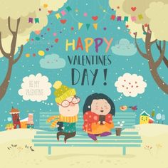 Young couple sending love messages using cellphone wireless communications. Vector greeting card
