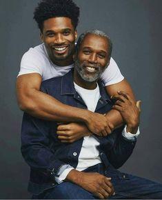 "frenchinhalechanelxoxo: "" buh-rye-yuh: "" trickwhiteyman: ""More positive images of black fatherhood "" They are twins "" "" Black Men Beards, Handsome Black Men, Gorgeous Black Men, Beautiful Men, Beautiful Family, Chocolate Men, Black Fathers, Smiling Man, Cute Gay Couples"