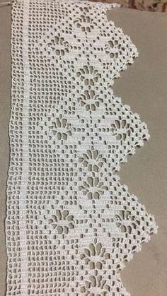 Crochet Edging This Pin was discove Cotton Crochet, Thread Crochet, Love Crochet, Vintage Crochet, Crochet Stitches, Crochet Edging Patterns, Crochet Borders, Crochet Squares, Filet Crochet