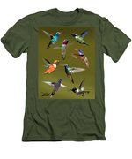 Hummingbird Collage Men's T-Shirt (Athletic Fit)