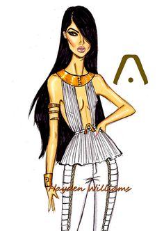 Hayden Williams Fashion Illustrations: Aaliyah 11th Anniversary by Hayden Williams