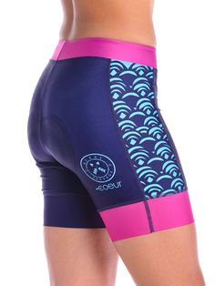 Women's Padded Cycling Shorts in Hapuna Design