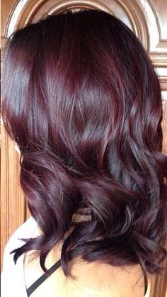 60 Awesome Red Hair Color Ideas - Fashion and Lifestyle - burgundy hair Plum Hair, Dark Hair, Brown Hair Red Tint, Dark Red Hair Burgundy, Mousy Brown, Burgundy Balayage, Burgundy Colour, Violet Brown, Pelo Color Berenjena