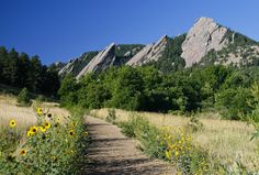 Flat Iron Mountains in Chautauqua Park, Boulder.