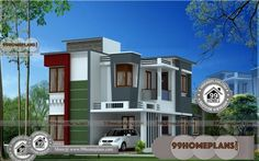 Simple House Plans Free with 2 Storey House Design Architectural Design House Arch Design, 2 Storey House Design, Simple House Design, House Design Photos, Modern House Design, Low Cost House Plans, Simple House Plans, Country House Plans, Modern House Plans