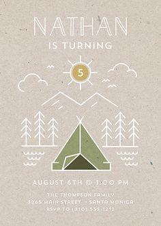 Happy Camper | @smudgedesign | #birthday #invitations
