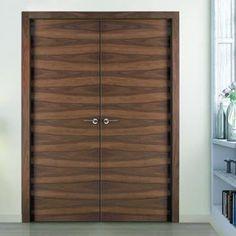 Sanrafael Lisa Flush Double Fire Door - L62 Grain Balanced Walnut Prefinished. #woodgrainfiredoubledoors #doublefiredoors #firedoorpair