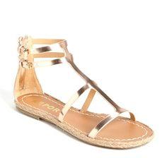 gold espadrille gladiator sandal $39.00