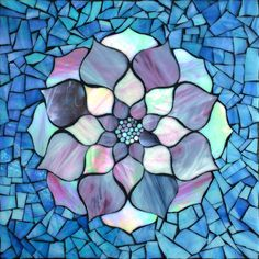 """""""Pink Lotus"""" stained glass mosaic by Kasia Polkowska   See More Work on Kasia Mosaics Page on Facebook: https://www.facebook.com/KasiaMosaics"""