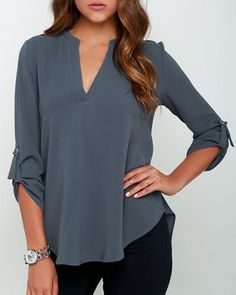 from casual to work outfit, this shirt is very versatile, and the color is lovely!