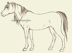 Znalezione obrazy dla zapytania koń prosty rysunek