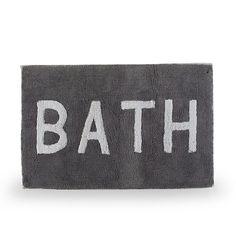 Bath 2  Tapis de bain gris et blanc