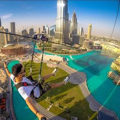 Dubai, United Arab Emirates | Known for luxury shopping and entertainment, adventurers will also be satisfied by an incredible, city-based zipline.