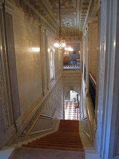 Col. Oliver Hazard Payne house main staircase, NY