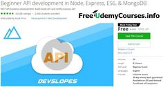 [Udemy #BlackFriday] Beginner API development in Node Express ES6 & #MongoDB   About This Course  Published 11/2016English  Course Description  Beginner API development in Node Express ES6 & MongoDB  Are you a mobile app developer that needs a backend API & database?  Do you have an mobile product idea?  Do you want to create your own startup?  Or do you want to become a backend developer?  This is THEcourse for you.  We have taught over 50000 students how to code and so many of them have…