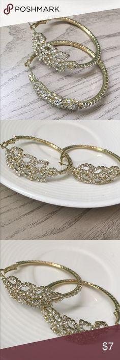 Crystal Hoops Hoops, lobster clasp Jewelry Earrings