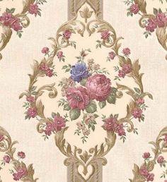004-Wallpaper -. kostenlos Rose Frame, Flower Frame, Flower Wall, Love Wallpaper, Pattern Wallpaper, Vintage Floral, Vintage Art, Floral Upholstery Fabric, Wedding Decor