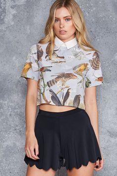Birds of Prey Boss Shirt - LIMITED ($80AUD) by BlackMilk Clothing