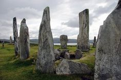 Callanish, Isle of Lewis, Scotland. The logo for my blog shows another view of the Callanish stones. I think they're beautiful, in an eerie and mysterious sort of way.  And the closest thing I've ever seen to what I imagine Craigh na Dun might look like.