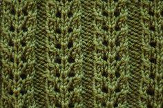 Ravelry: Double Eyelet Rib Stitch pattern by Derya Davenport-free