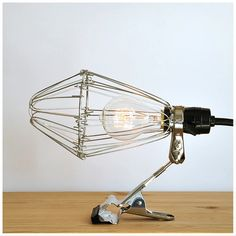 Hay industrial wire cage clip lamp room stuff pinterest industrial loft style vintage desk clip lamp table lamp design art convenient e27 ac110 240v without bulbs greentooth Choice Image