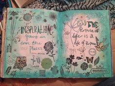 One of my favorite art journal pages. By Cecily McIlwain.