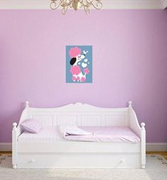 Design with Vinyl 3 Pro 18 Decor Item Pink Dog Cute Poodle Girl Kids Teen Wall Decal Peel and Stick Sticker Mural 40 x 60Inch ** Check out this great product.