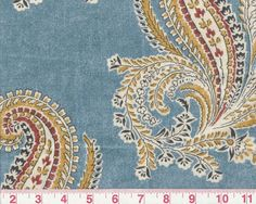 Printed Paisley by Lee Jofa Drapery Upholstery Fabric Chatham Inn Blue 208119-54 #LeeJofa   23 avail.