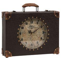 Suitcase Table Clock - Urban Mindset