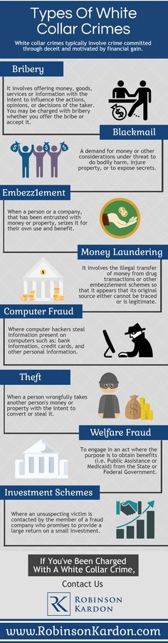 White collar crimes typically involve crime committed through deceit and motivated by financial gain.