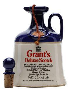 Grant's Deluxe Ceramic Decanter - : The Whisky Exchange Old Bottles, Liquor Bottles, Vodka Bottle, Cigars And Whiskey, Scotch Whiskey, Blended Whisky, Ceramic Jars, German Beer, Malt Whisky