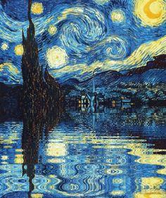 酷--把梵高种地上 - 万维读者网博客 3d Street Art, Vincent Van Gogh, Les Trouvailles, Van Gogh Paintings, Internet, Trippy, Vans, Tumblr, Artwork