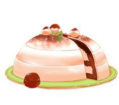 Who wants some choco chick cream cake Cute Food Art, Cute Art, Chibi Food, Kawaii Dessert, Cute Kawaii Drawings, Cute Little Things, Food Drawing, Trifle, Cute Cakes