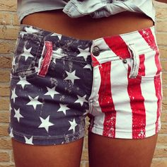 i ve been wanting to make some american flag shorts for quite a while.. time to get to it!