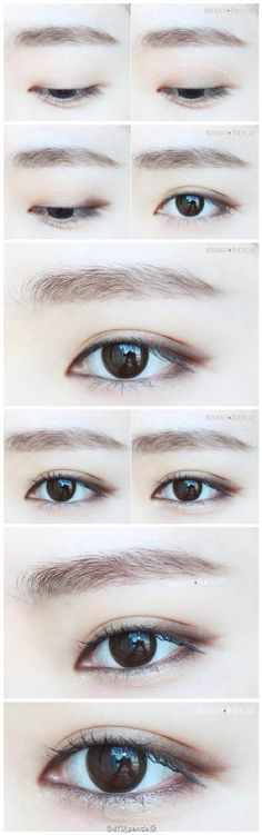 natural eye make up 清淡自然眼妆