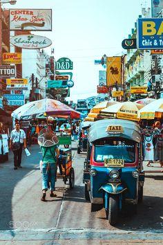 Khao San road Bangkok, Thailand