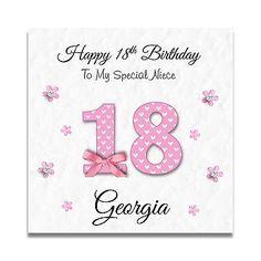 Handmade Personalised Ladies Daughter Granddaughter 16th 18th Birthday Card Cards Greeting