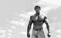 Descargar fondos de pantalla Arnold Schwarzenegger, el actor Estadounidense, joven Schwarzenegger, músculos de acero, el Culturismo