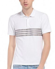 Color block striped polo shirt for men short sleeve Striped Polo Shirt, Occasion Wear, Hiphop, Fitness Fashion, Tee Shirts, Cosplay, Sleeve, Casual, Mens Tops