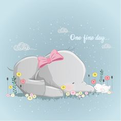 Illustration about Cute, lovely, and unique baby animal illustration for you designs. Illustration of kids, designs, shower - 137596524 Brain Illustration, Elephant Illustration, Cute Illustration, Elephant Nursery, Baby Elephant, Baby Animals, Cute Animals, Cute Mermaid, One Fine Day