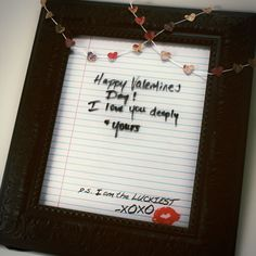 Dry Erase Love Note DIY With Printable