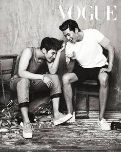 2PM's Kim Min Jun (Jun.K) & Ok Taecyeon Vogue Korea Magazine June 2013