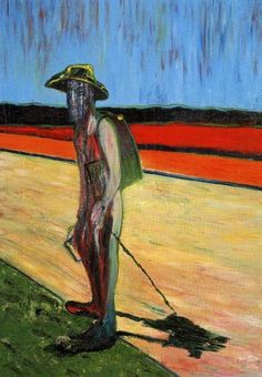 Francis Bacon - Study for a Portrait of Van Gogh,  1957