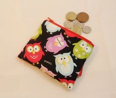 Snooze Owls Fabric Coin Purse - Free P&P £5.00