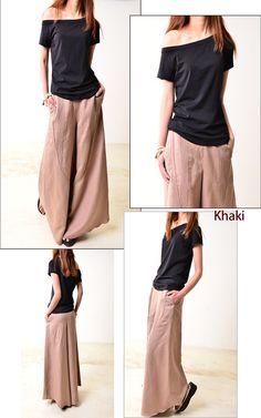Luna olvidó  falda lino pantalones K1206b