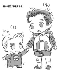 2. Their sons . Peter and Johnny Stark - Rogers.
