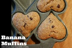 Banana Muffins with Mini Dark Chocolate Chips